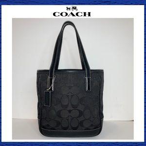 Coach Signature C Black Series Mini Tote Handbag